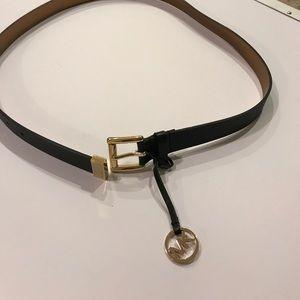 Michael Kors safiano leather belt