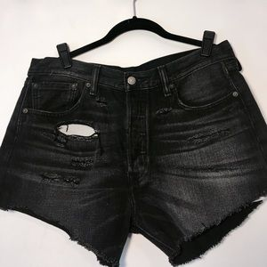 Faded Black Levi's Cutoff Shorts