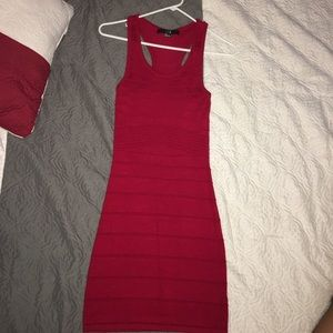 Red forever 21 bandage dress (gently used)