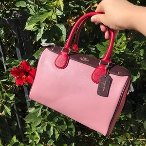 🌈Brand new PINK coach authentic leather satchel