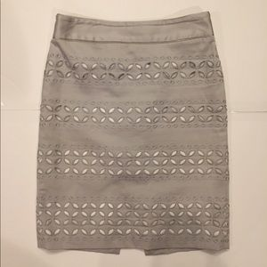 Grey skirt with cutouts on bottom