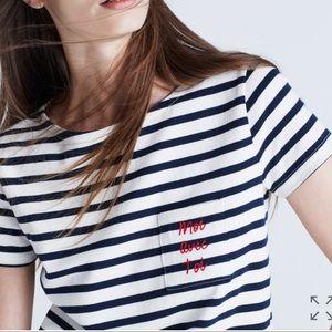Madewell x Sezanne Moi Avec Toi Striped Tee