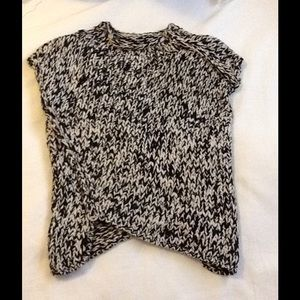 Forever 21 chunky knit sweater top black white s