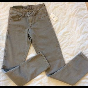 Skinny jeans gray stretchy midrise size 0 new rue