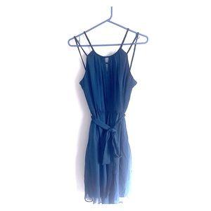 Dark teal flowy dress