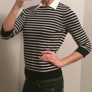RALPH LAUREN Striped Collar Dress Shirt