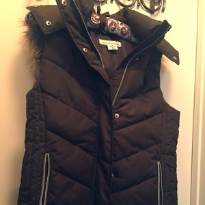 H&M faux fur hooded vest