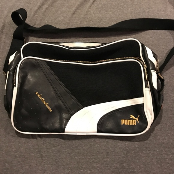 ebc37f1d209 Puma Bags   Leather And Mixed Media Messenger Bag   Poshmark