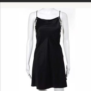 Natori black embroidered chemise