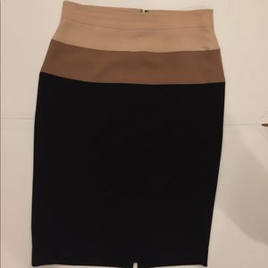 Cream colored top of skirt