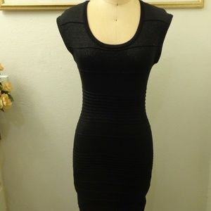 Forever 21 Bodycon Sexy Short Sleeve Black Dress