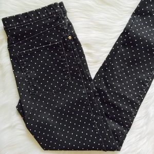 H&M Black White Polka Dot Jeans stretchy Jeggings