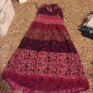 Pink & Red Halter Top Dress
