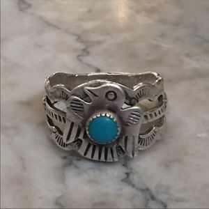 Native American Vintage Sterling Thunderbird Ring