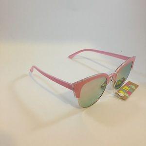 Cat Eye Sunglasses in Pink Chrome