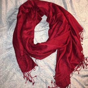 Pashmina shawl bright red