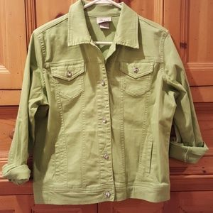 Green jean jacket size Small