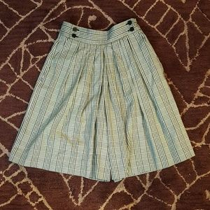 Vintage silk plaid culottes