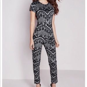 Miss guided lace pattern jumpsuit size 4
