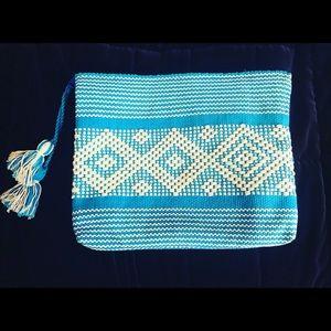 Brand New Handmade Blue Medium-Sized Clutch
