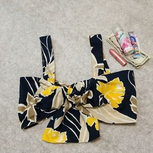 Zara tropical crop top