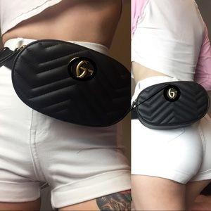 2G Quilted genuine leather belt bag $185🅿️