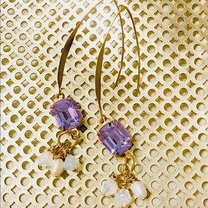 NEW Brass Statement earrings