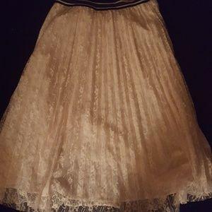 NY&Co Pleated Lace Skirt