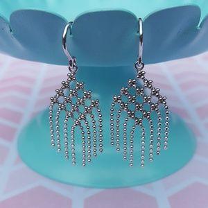 18k White Gold Dangle Tiffany & Co. Earrings