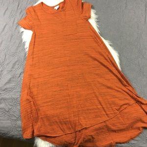 LuLaRoe Halloween Colored Orange Carly Dress
