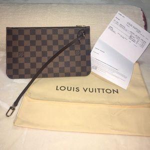 Authentic Louis Vuitton Wristlet MM size