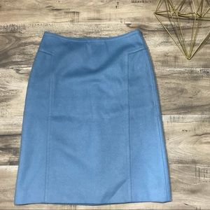 Ann Taylor Virgin Wool Cashmere Blue Work Skirt