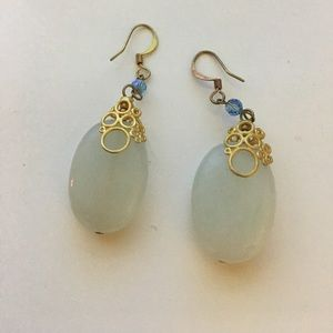 Anthropologie earrings turquoise gold