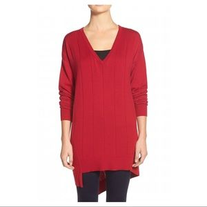 •VINCE CAMUTO• Drop Stitch Asymmetrical Sweater