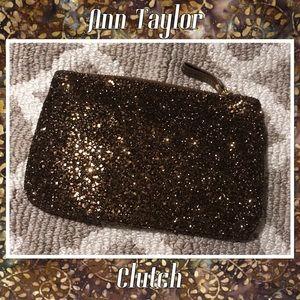 Ann Taylor Glitter Clutch