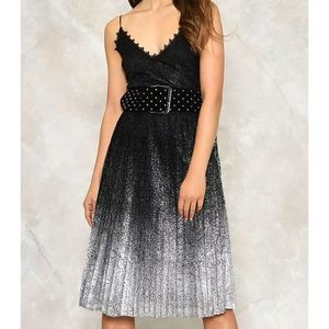 Nasty gal dress silver and black