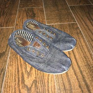 Women's Toms Denim Slip On Shoes Sz. 7.5