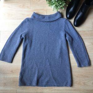 LOFT Mock Turtleneck Boxy Grey Sweater Medium