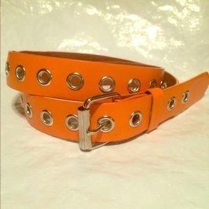 Brand New Halloween Orange Leather Belt