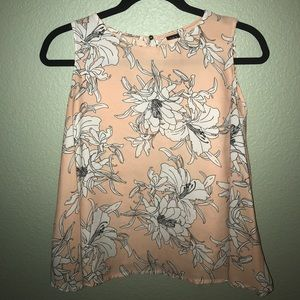 Zara-Esque High Neck Line Floral Printed Blouse