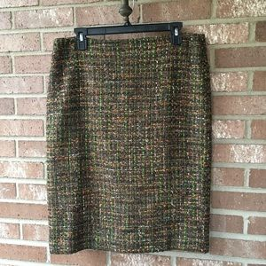 Talbots Tweed Skirt Size 10