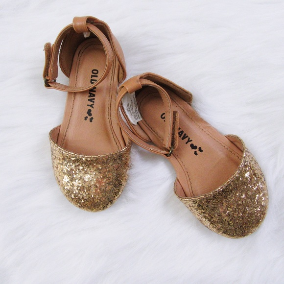c33bb434d641 Gold glitter old navy girls shoes. M 59e6e2f89c6fcfd77607b4aa