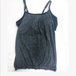 Beyond Yoga work out charcoal with black bra top