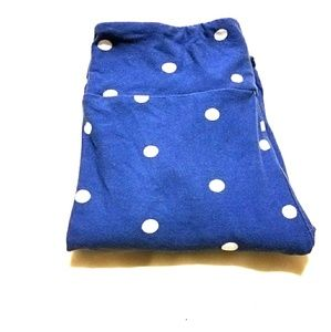 OS Lularoe Blue Polka Dot Leggings