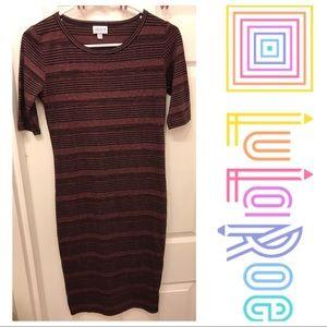 LulaRoe Julia Striped Dress Size XS
