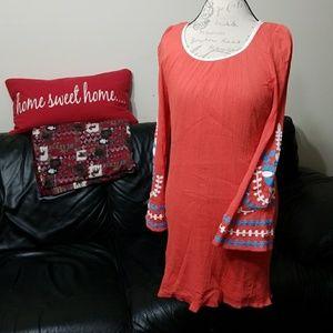 Umgee bell sleeves boho tunic top
