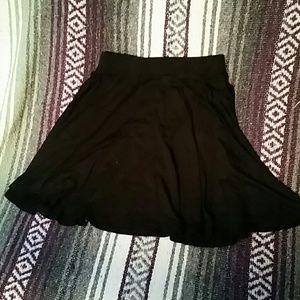 NWOT Black Skater Circle Skirt