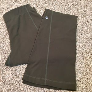 Lululemon Stretch Fitted Flare Leg Olive Green