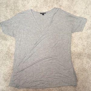 TOPSHOP cross over shirt