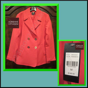 ADRIENNE VITTADINI NEW Double Breast Red Jacket M